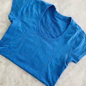 Lululemon Swiftly Short Sleeve Top Blue 6 Scoop